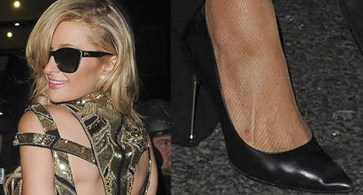 0656fd1e14ae Paris Hilton Channels Kim Kardashian in Tom Ford Pumps