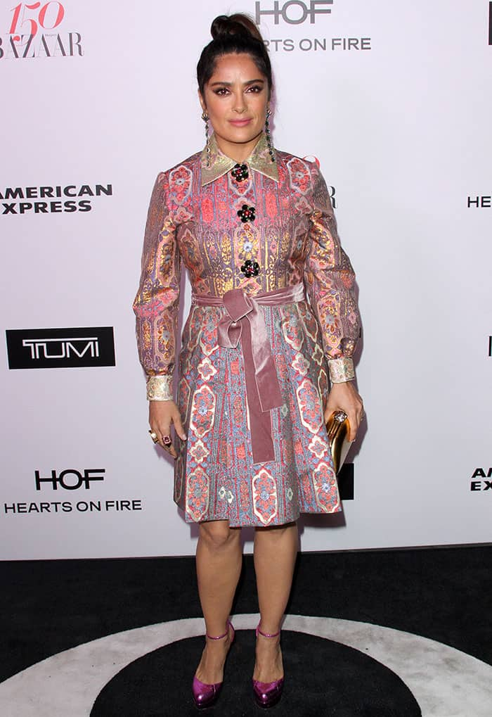 Salma Hayek at Harper's Bazaar's 150 Most Fashionable Women celebration