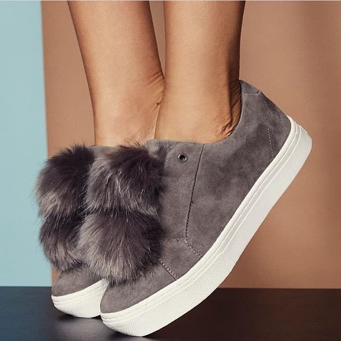 a84f9d990e4411 Sam Edelman  Leya  Faux Fur-Embellished Suede Slip-On Sneakers