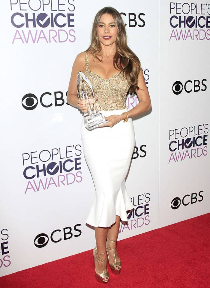 Sofia Vergara at the 2017 People's Choice Awards held at the Microsoft Theatre in Los Angeles on January 18, 2017