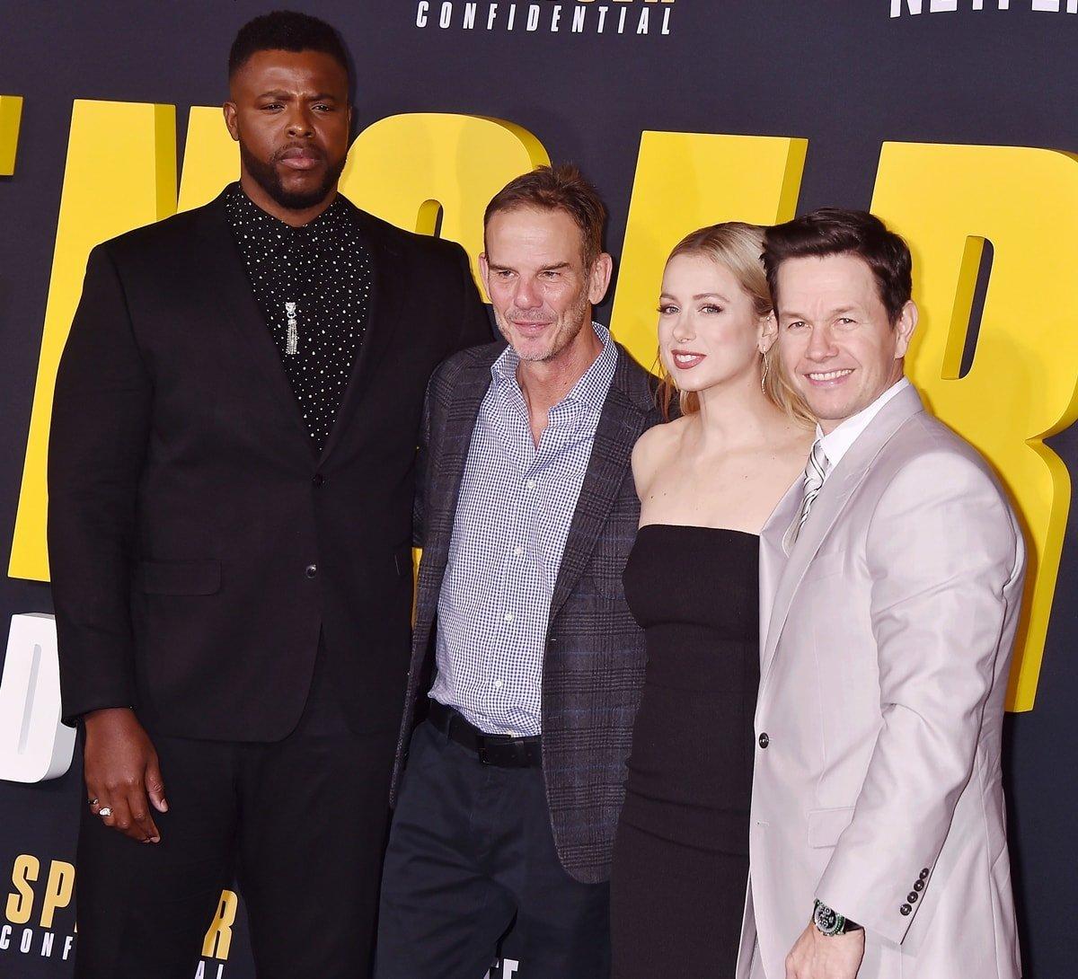 """Winston Duke, Peter Berg, Iliza Shlesinger, Mark Wahlberg at the Premiere of Netflix's """"Spenser Confidential"""""""