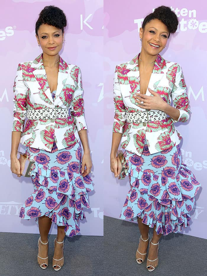 Thandie Newton at Variety's Celebratory Brunch Event For Awards Nominees, benefitting Motion Picture Television Fund, at Cecconi's in West Hollywood, California, on January 28, 2017