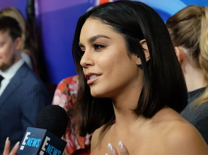 Vanessa Hudgens is hard at work to promote her latest show Powerless
