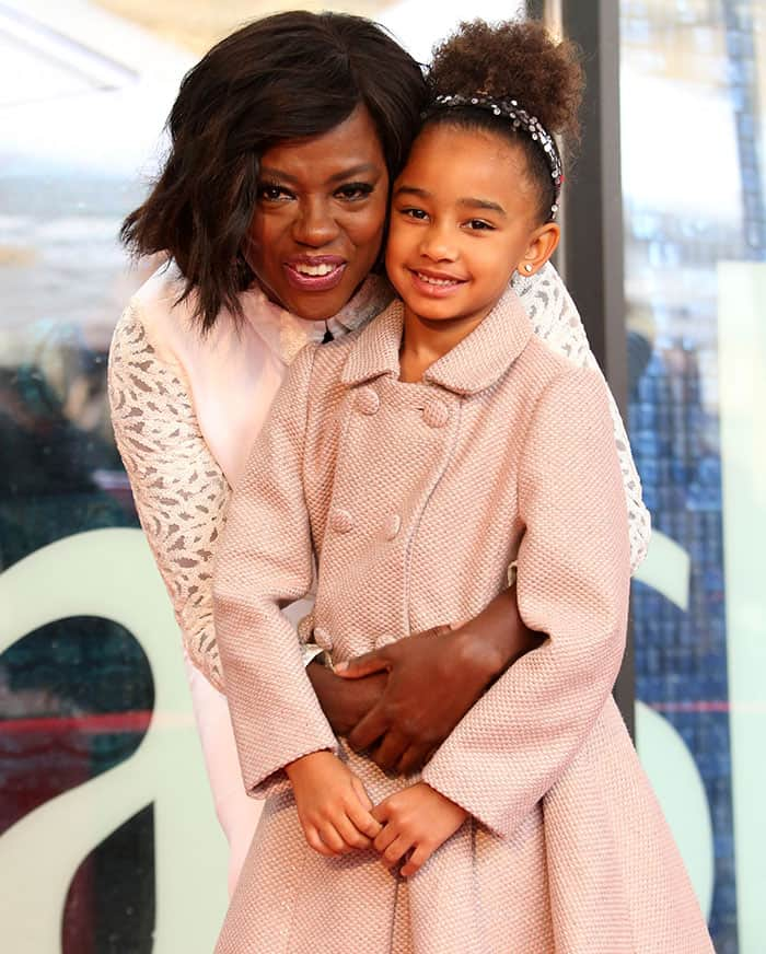 Viola Davis with her adopted daughter Genesis Tennon