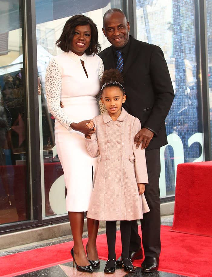 Viola Davis with husband Julius Tennon and daughter Genesis at The Hollywood Walk Of Fame