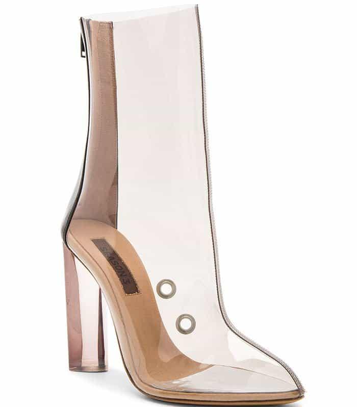 23275561bb0 Kendall Jenner Wears Yeezy Season 3 PVC Ankle Boots