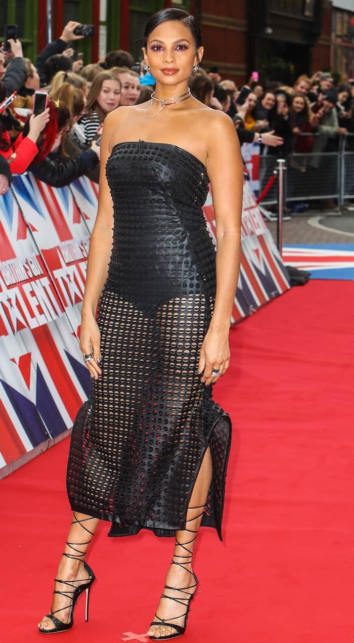 Alesha Dixon attends the Birmingham auditions for 2017 Britain's Got Talent from the Hippodrome in Birmingham on February 2, 2017