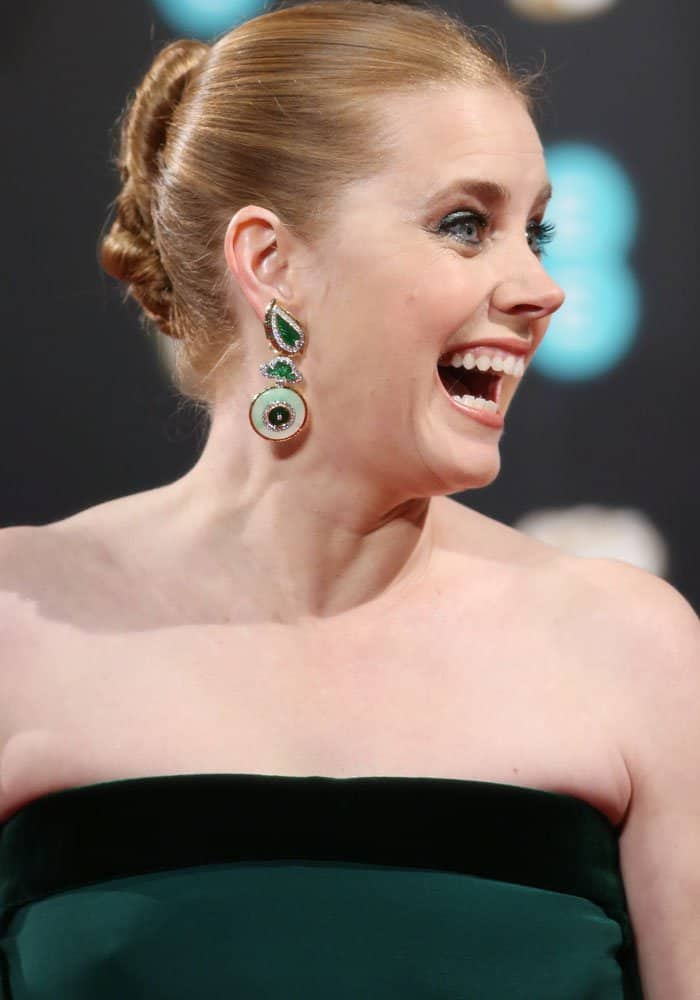 Amy Adams at the 2017 EE British Academy Film Awards held at the Royal Albert Hall in London on February 12, 2017