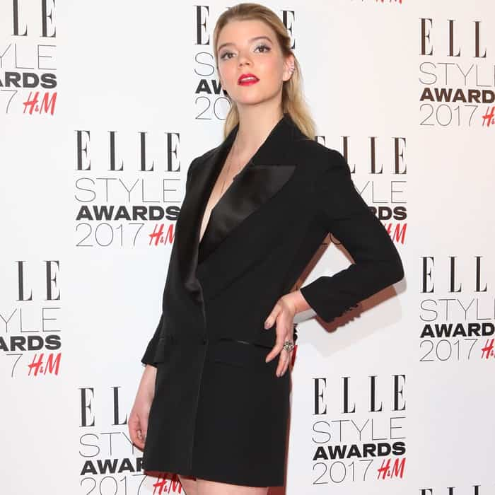 Anya Taylor-Joy at the 2017 Elle Style Awards held at Conduit Street in London, England, on February 13, 2017