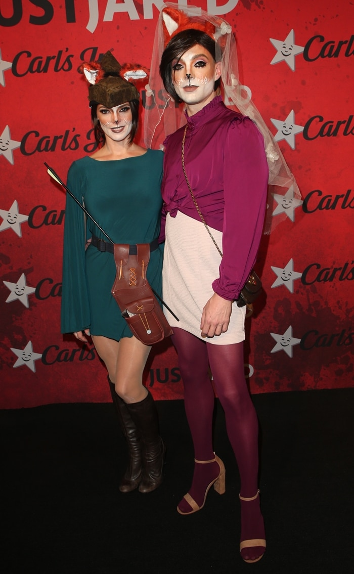 Ashley Greene and hairstylist Joseph Chase attend Just Jared's 7th Annual Halloween Party