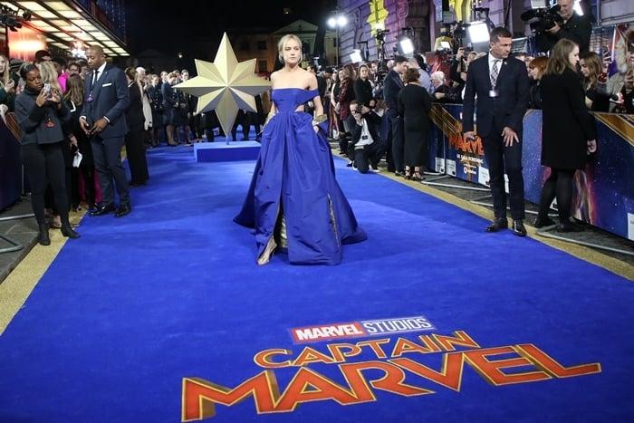 "Brie Larson attends the ""Captain Marvel European Gala"""