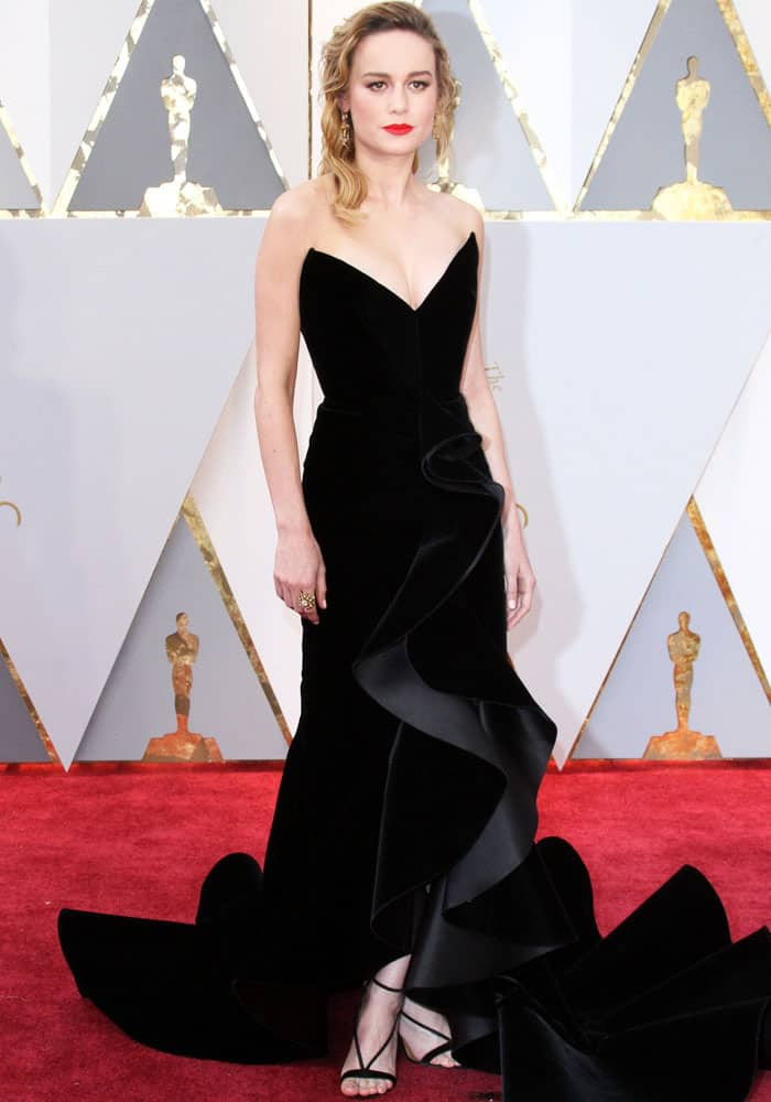Brie Larson at the 89th annual Academy Awards