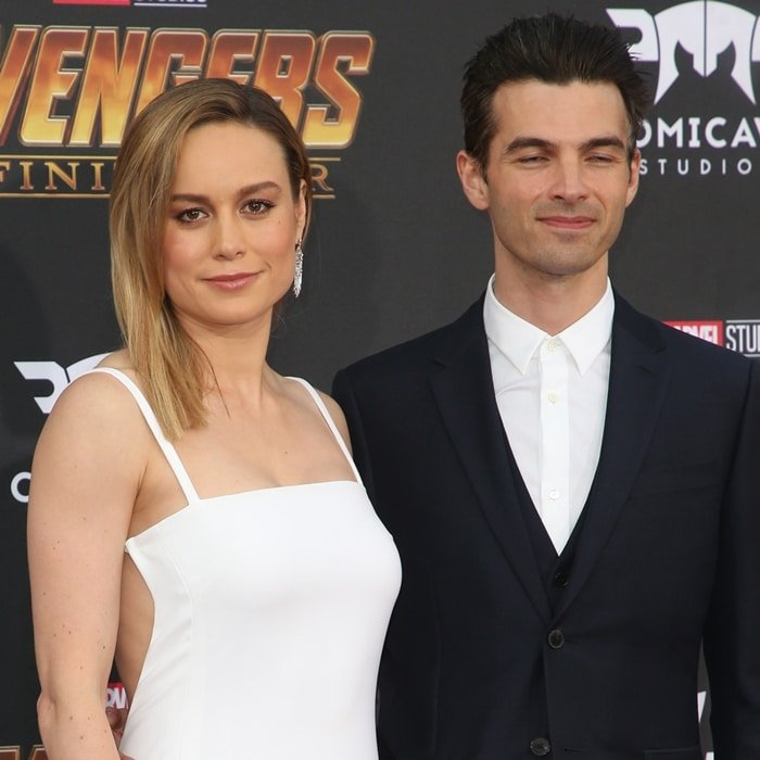"""Brie Larson and Alex Greenwald arrive at the premiere of Disney and Marvel's """"Avengers: Infinity War"""""""