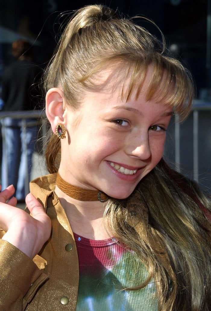 12-year-old actress Brie Larson attends the premiere of the film Big Fat Liar