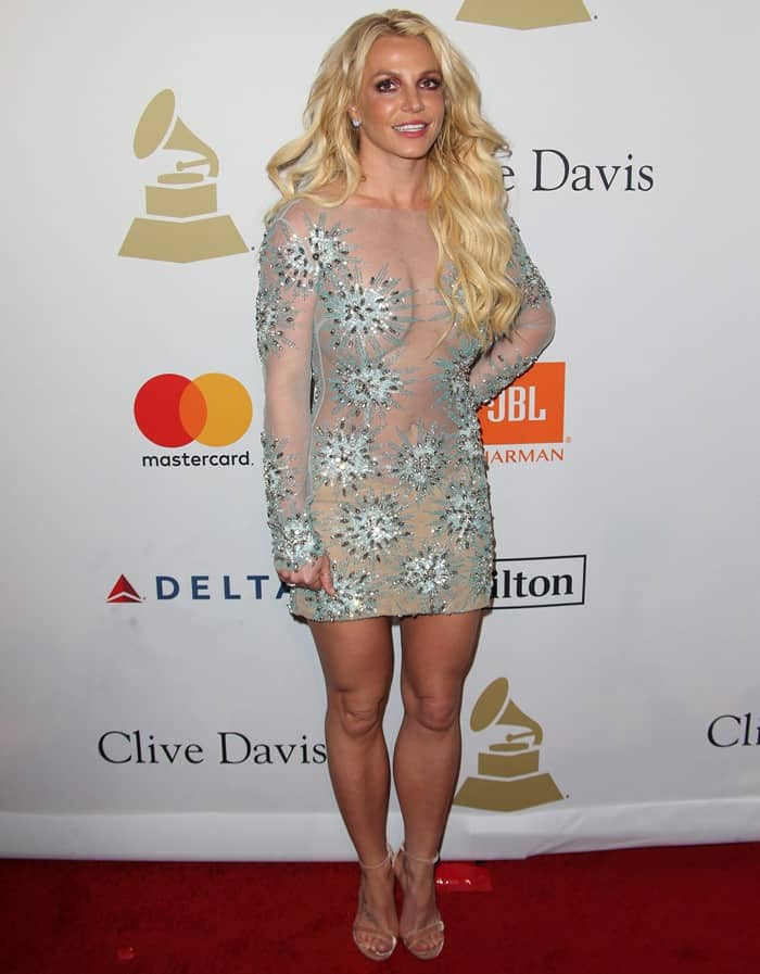 Britney Spears at Clive Davis' Pre-Grammy Party held at The Beverly Hilton in Los Angeles on February 11, 2017