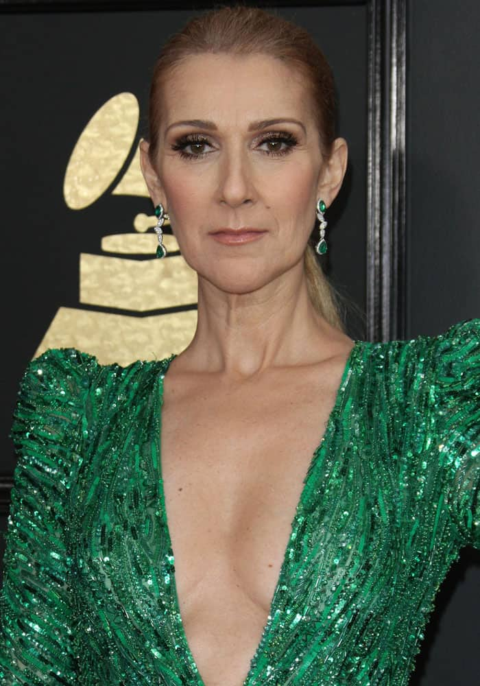 Celine Dion at the 59th Grammy Awards held at the Staples Center in Los Angeles on February 12, 2017