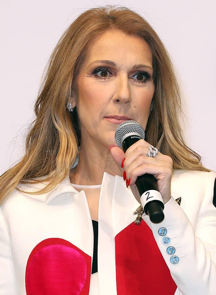 Celine Dion wore a Schiaparelli spring 2017 Couture ensemble