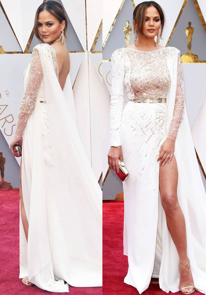 Chrissy Teigen at the 89th annual Academy Awards