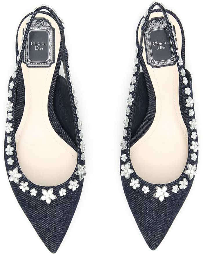 Christian Dior Garland Slingbacks