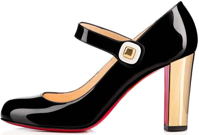 on sale b48e5 3a903 Block-Heeled 'Bibaba' Mary Jane Pumps by Christian Louboutin
