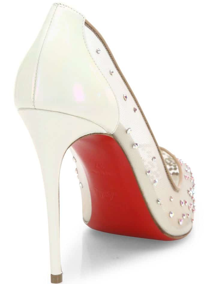 Christian Louboutin Follies Strass Pointy Toe Pumps