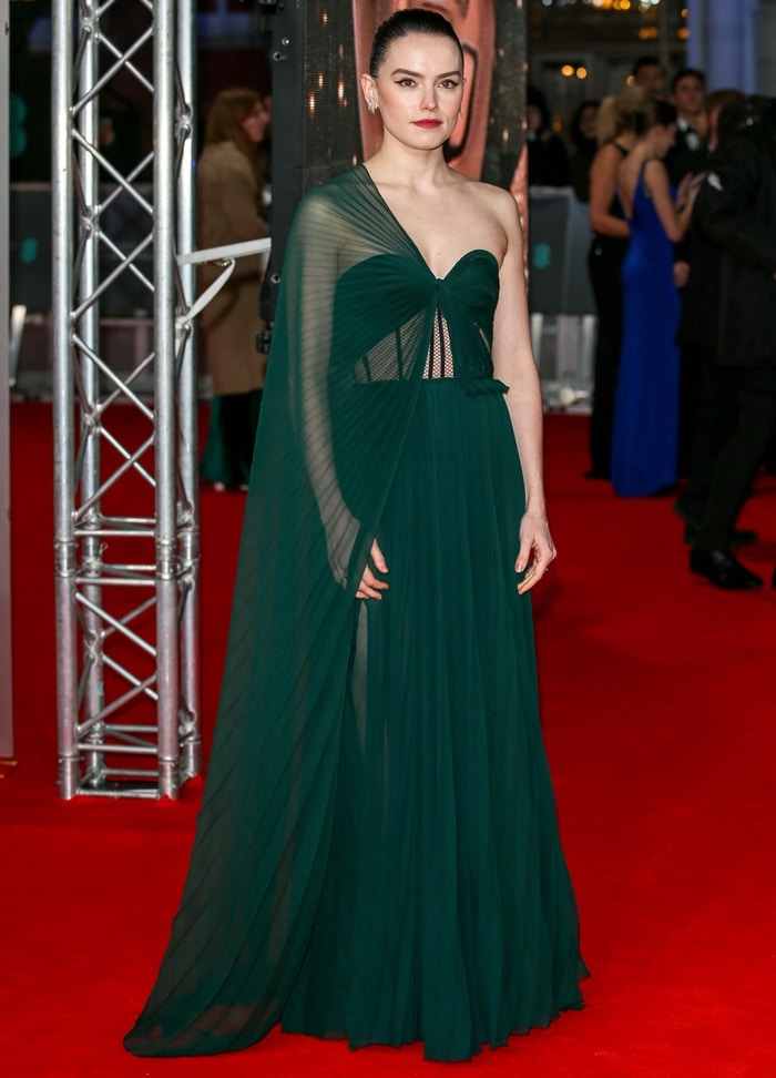 Daisy Ridley attends the EE British Academy Film Awards
