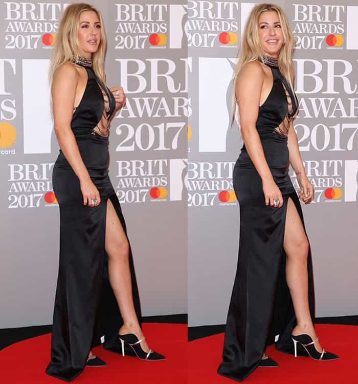 Ellie Goulding at the 2017 Brit Awards held at the O2 in London, England on February 22, 2017