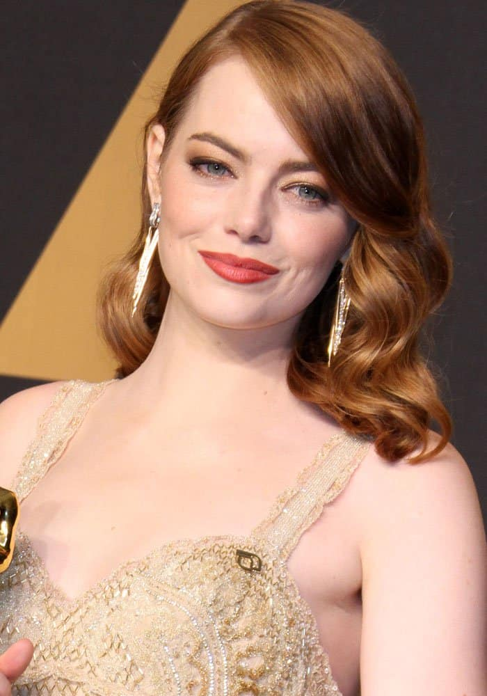 Emma Stone at the 89th annual Academy Awards
