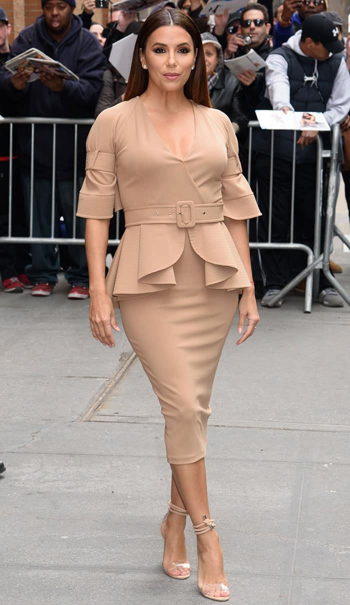 Eva Longoria outside ABC studios following an appearance