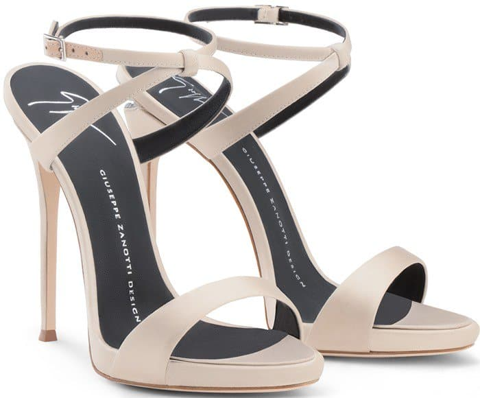 Giuseppe Zanotti Dionne Sandals with Crystals and Sculpted Heels