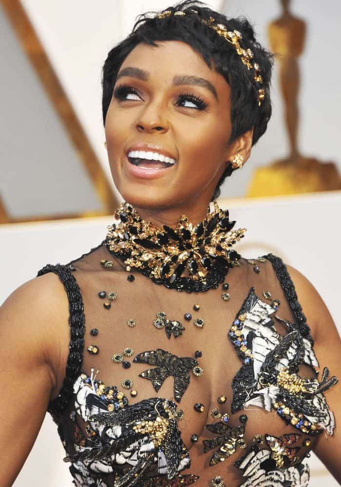 Janelle Monáe at the 89th annual Academy Awards