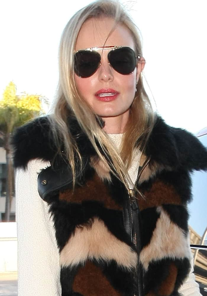 Kate Bosworth departs from Los Angeles International Airport
