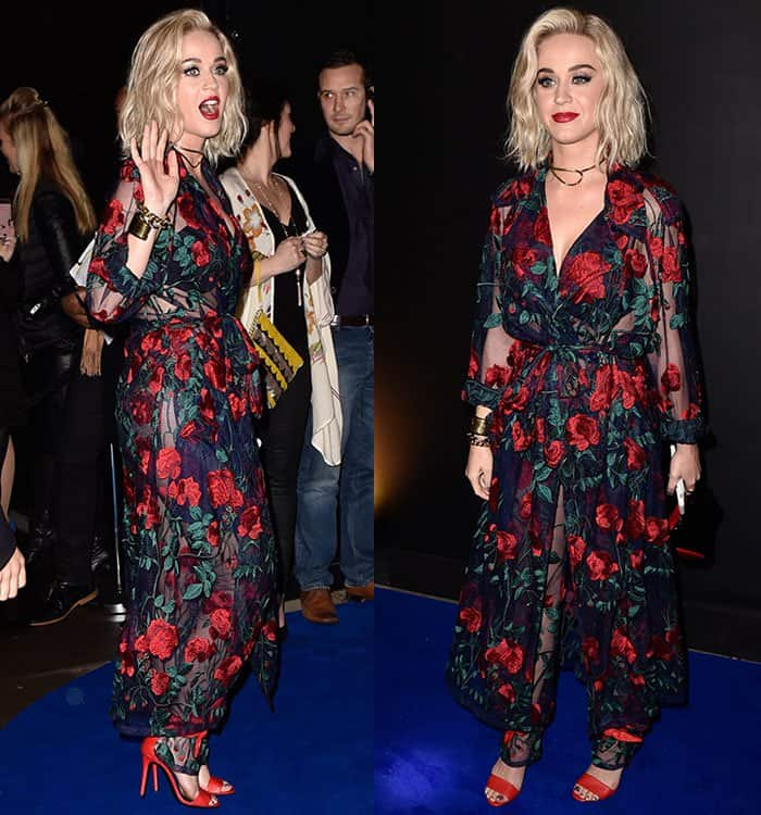 Katy Perry at Universal Music's 2017 Brit Awards annual after-party in London, England, on February 22, 2017