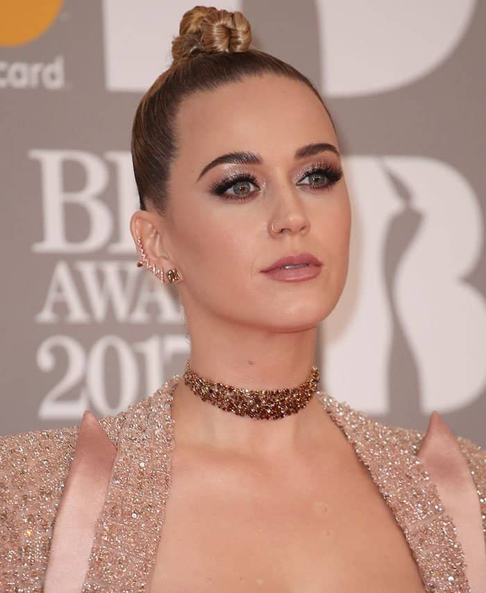Katy Perry at the 2017 Brit Awards held at the O2 in London, England, on February 22, 2017