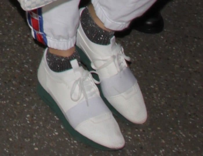 Kendall finished her look with Balenciaga 'Race Runners'
