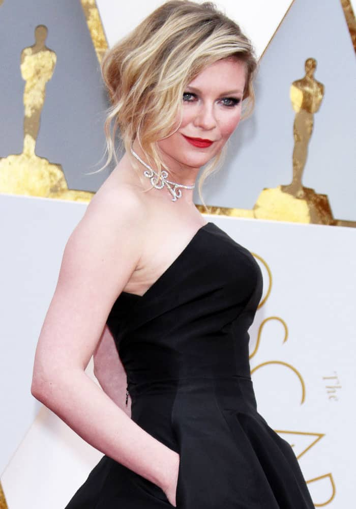 Kirsten Dunst at the 89th annual Academy Awards