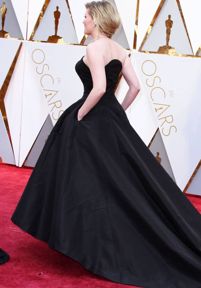 Kirsten wears a custom Christian Dior couture gown on the red carpet