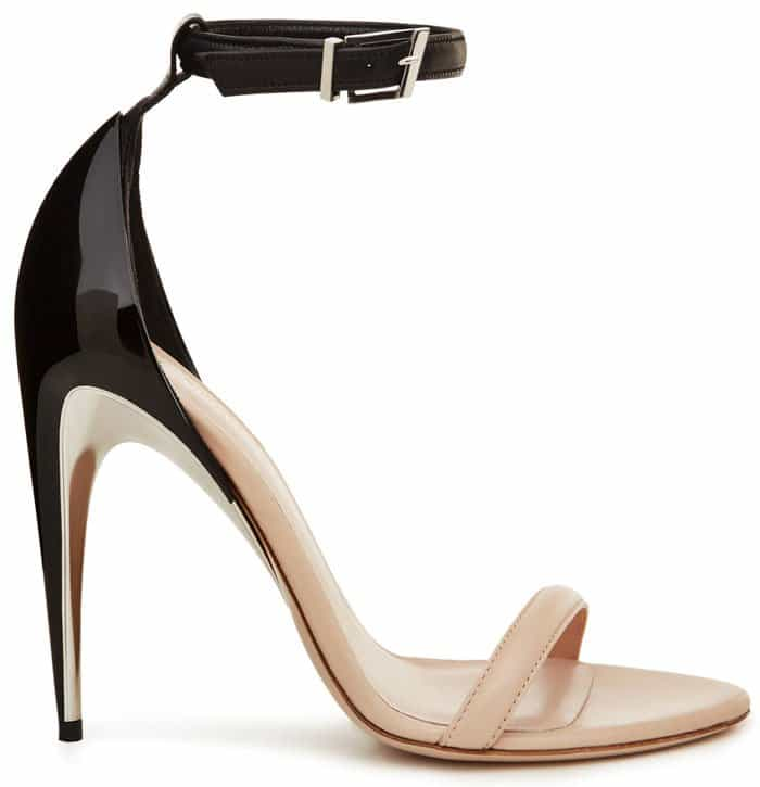 La Perla two-tone ankle-strap sandals