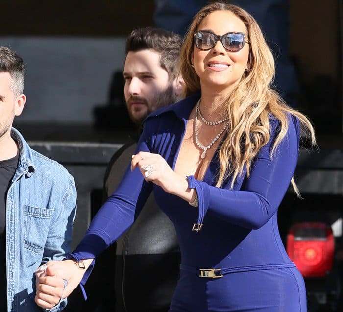 "Mariah Carey in the same Christian Louboutin ""Marlenarock"" pumps that we spotted her wearing in Las Vegas"