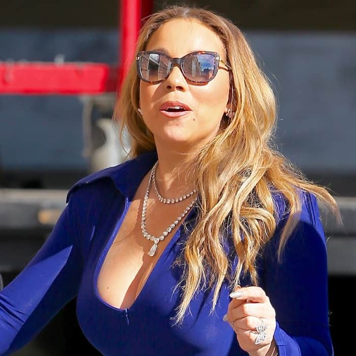 Mariah Carey rocked stunning diamond necklaces