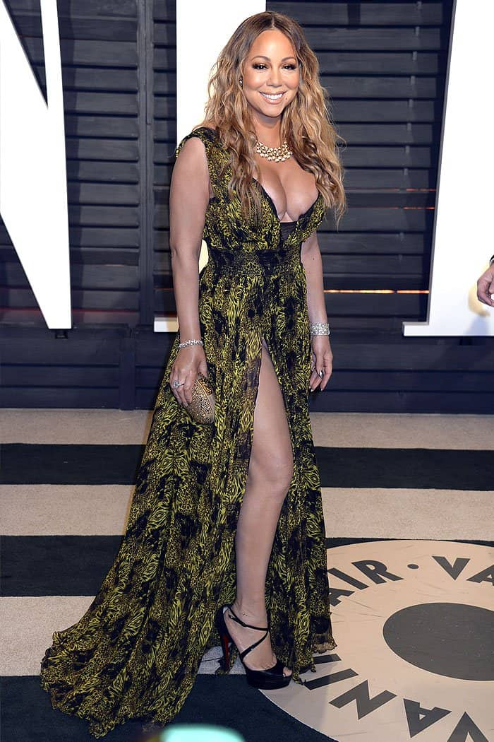 Mariah Carey at the 2017 Vanity Fair Oscar Party at the Wallis Annenberg Center for the Performing Arts in Beverly Hills, California, on February 26, 2017.