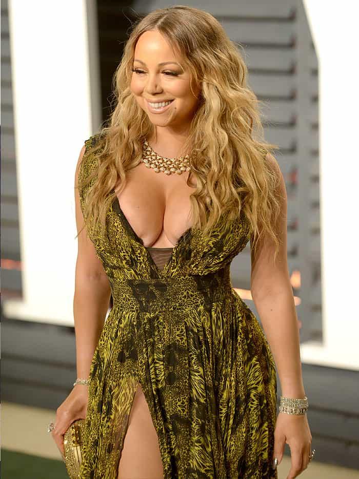 Mariah Careys Nip Slip In Christian Louboutin Cross Me Pumps