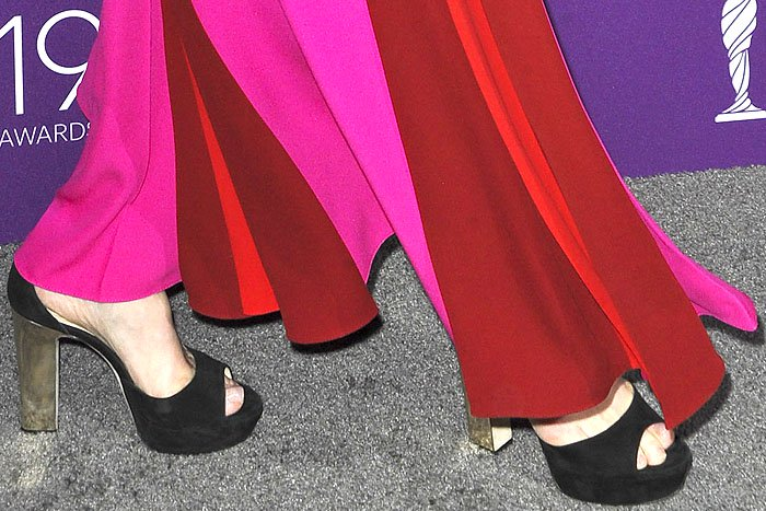 Meryl Streep in Jimmy Choo platform sandals