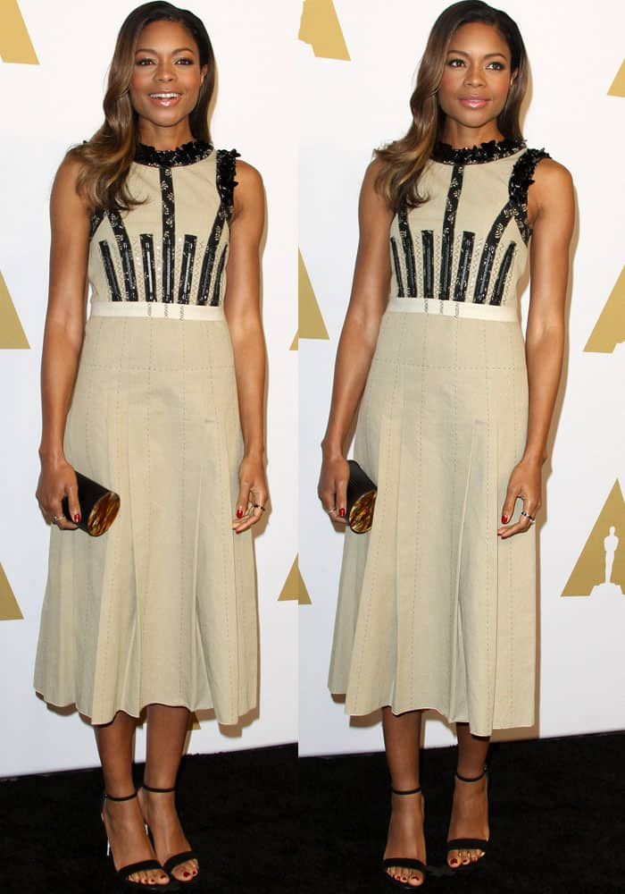 Naomie Harris at the 89th Oscars nominees luncheon 2017 held in the Grand Ballroom at the Beverly Hilton Hotel in Beverly Hills