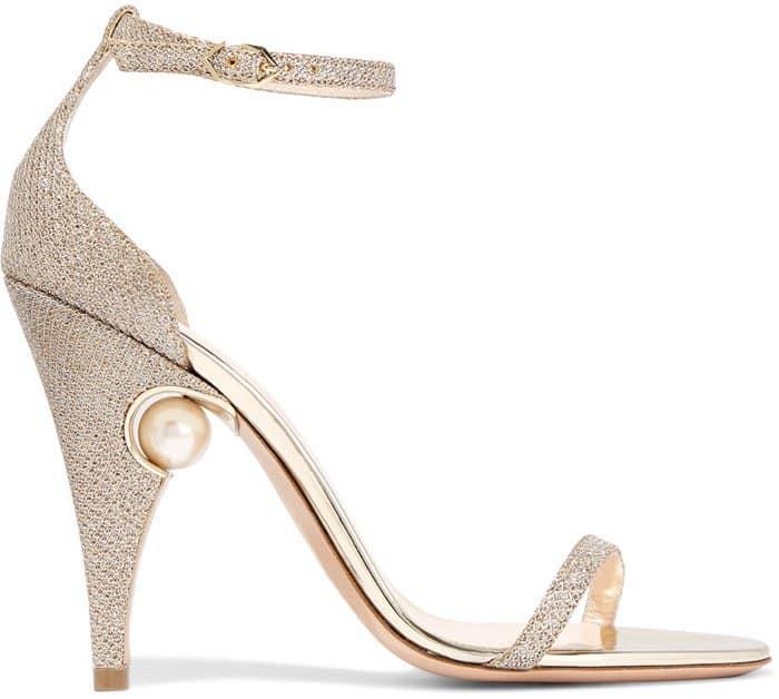 Nicholas Kirkwood 'Penelope' Sandals in Metallic Mesh