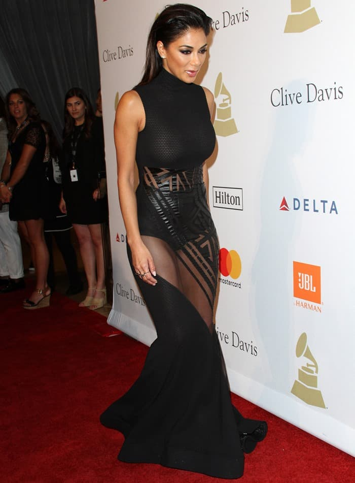 Nicole Scherzinger at Clive Davis' Pre-Grammy Party held at The Beverly Hilton in Los Angeles on February 11, 2017