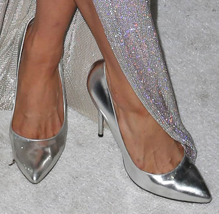 Paris Hilton shows off her feet in Charlotte Olympia's Monroe pumps