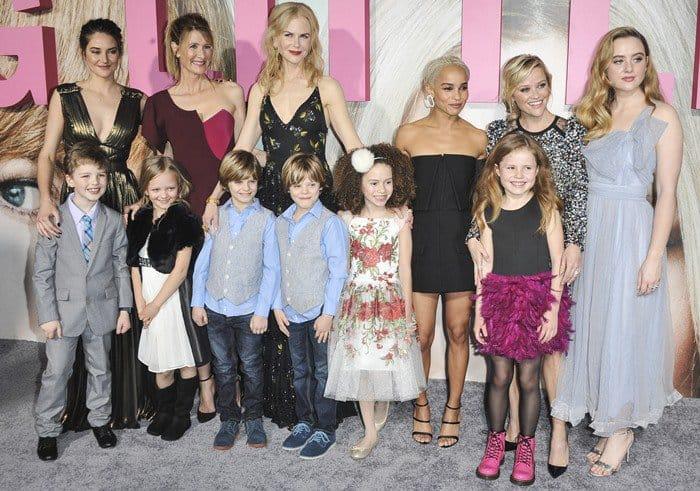 Laura Dern, Nicole Kidman, Shailene Woodley, Zoe Kravitz, Reese Witherspoon, Iain Armitage, Darby Camp, Chloe Coleman, Cameron Crovetti, Nicholas Crovetti, and Ivy George
