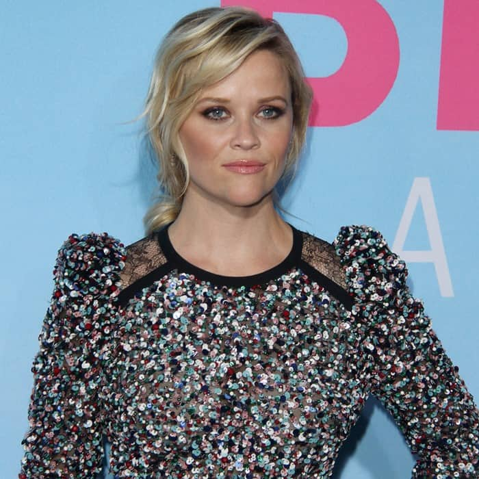 Reese Witherspoon's embellished belted mini dress