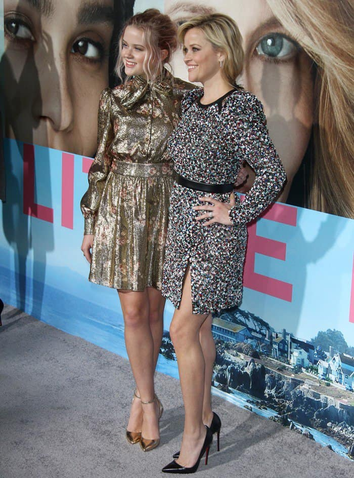 Ava Phillippe and Reese Witherspoon attend the premiere of 'Big Little Lies' at the TCL Chinese Theatre in Hollywood on February 7, 2017